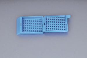 Kemtech America Inc. Pack of 2000 45/° Angle Marking Area White Removable Lid Biopsy Kemtech 0107-1130-16 Embedding Tissue Cassette Square Holes