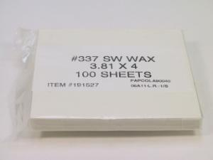 Wax Paper Sheets, GE Healthcare