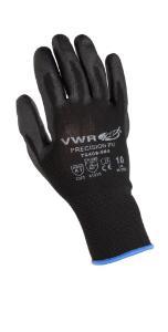 Cut protection gloves, PU coating, black