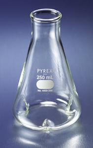 PYREX® Erlenmeyer Flasks, Narrow Mouth, with Baffles, Corning®