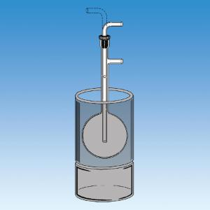 Vacuum Trap, Round Bottom Flask with Adjustable Inner Tube, Ace Glass Incorporated