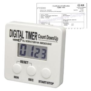 VWR® Single Channel Electronic Timer with Memory and Certificate of Calibration