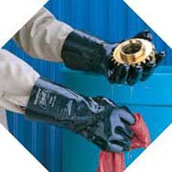 Neoprene-coated glove, application