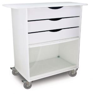 Extra Wide Storage Carts, Polyethylene, TrippNT