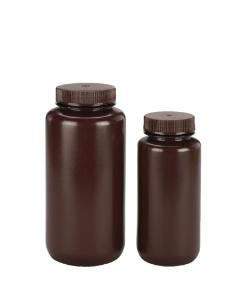 VWR® Laboratory Bottles, Amber High-Density Polyethylene, Wide Mouth