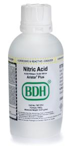 Nitric acid 67 - 70%, ARISTAR® PLUS for trace metal analysis, VWR Chemicals  BDH®