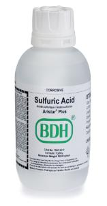 Sulfuric acid 93-98%, ARISTAR® PLUS for trace metal analysis, VWR Chemicals BDH®