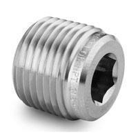 Sample Cylinder 316 SS Hollow Hex Plug, Restek
