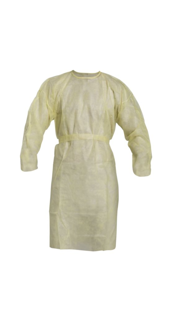DUPONT PROTECTIVE APPAREL 1100PG UOM: CS GOWN ISOL LT-WT T-LYR SMS YL CS100