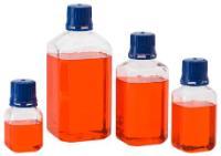 Media Bottles, PETG, Square, Chemglass